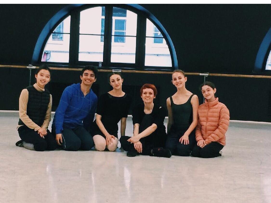 Prima Ballerina Uliana Lopatkina coaches ET students
