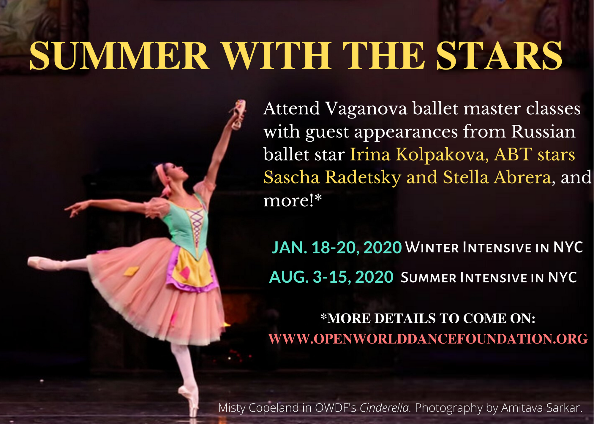 """2020 """"Summer with the Stars"""" Intensive"""