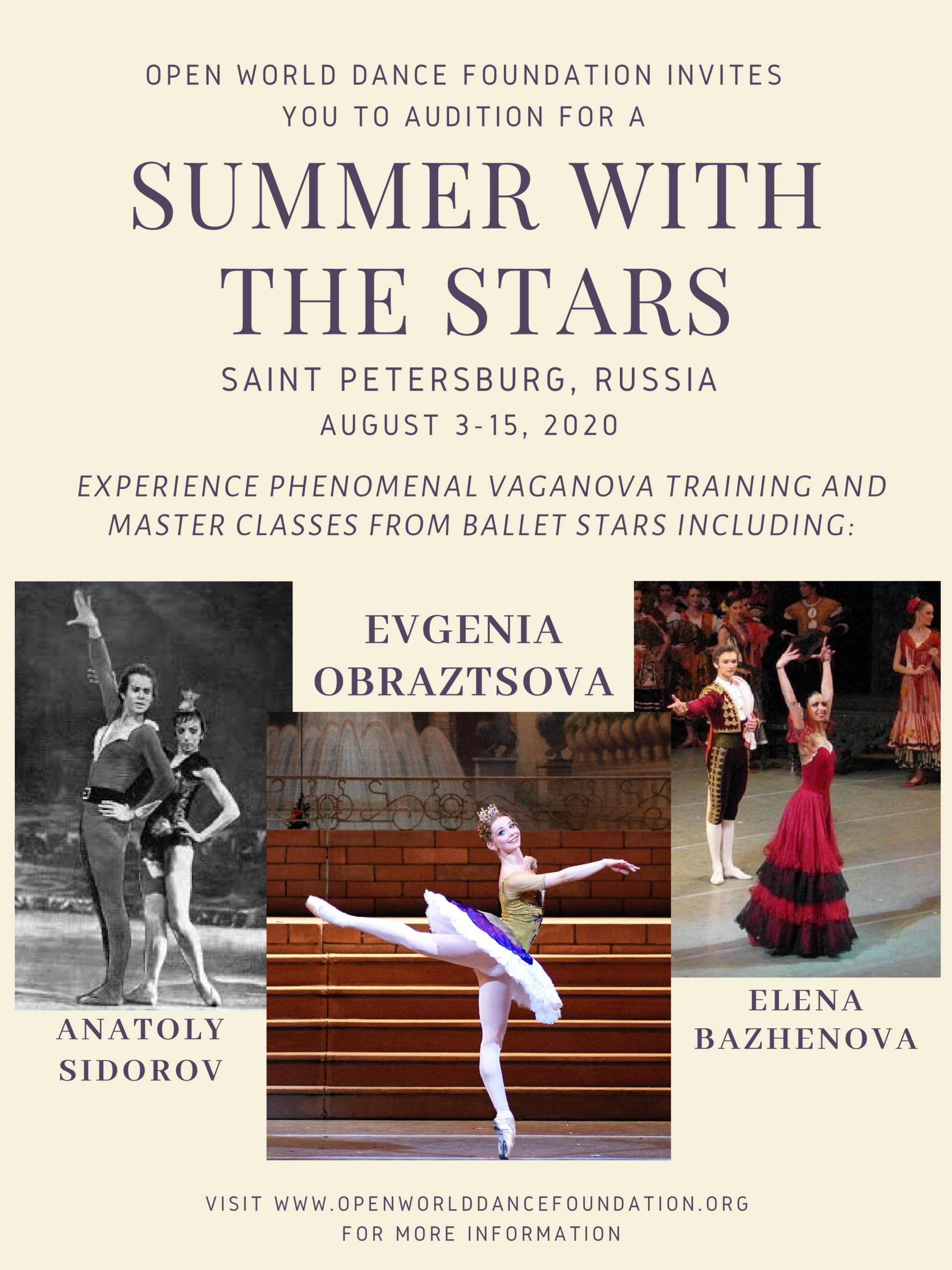 Train with stars like Evgenia Obraztsova and more!